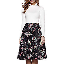 Buy Yumi Oriental Floral Skirt, Black Online at johnlewis.com