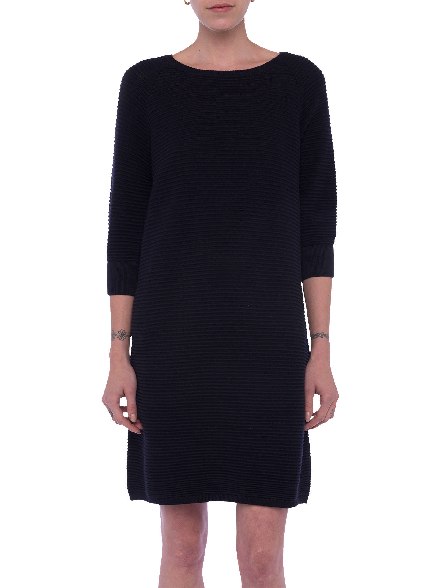 ef2bbde386a Buy French Connection Mozart Ripple Jumper Dress, Utility Blue, XS Online  at johnlewis.