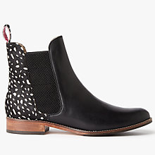 Buy Joules Westbourne Leather Chelsea Boots, Black Spot Online at johnlewis.com