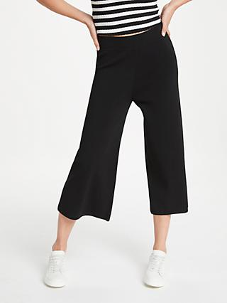 PATTERNITY + John Lewis Easy Knitted Culottes, Black