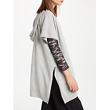 Buy PATTERNITY + John Lewis Slouchy Hooded Jumper, Grey Marl Online at johnlewis.com