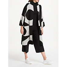 Buy PATTERNITY + John Lewis Oversized Signature Intarsia Cardigan, Black/White Online at johnlewis.com