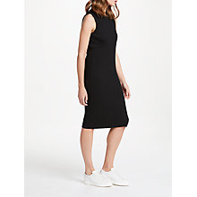 Buy PATTERNITY + John Lewis Ribbed Column Dress, Black Online at johnlewis.com