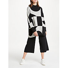 Buy PATTERNITY + John Lewis Oversized Signature Intarsia Jumper, Black/White Online at johnlewis.com