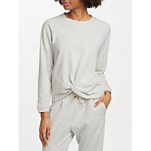 Buy John Lewis Loopback Twist Front Sweat Top, Stone Online at johnlewis.com