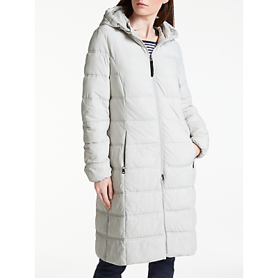 Gerry Weber Long Hooded Thinsulate Jacket, Platinum