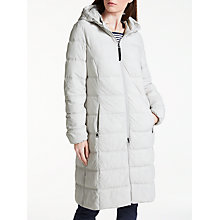 Buy Gerry Weber Long Hooded Thinsulate Jacket, Platinum Online at johnlewis.com