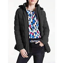 Buy Gerry Weber Hooded Thinsulate Coat, Black Online at johnlewis.com