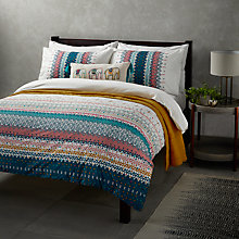 Buy John Lewis Fusion Jaipur Duvet Cover and Pillowcase Set Online at johnlewis.com