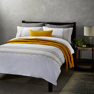 John Lewis Fusion Mahal Duvet Cover And Pillowcase Set Yellow