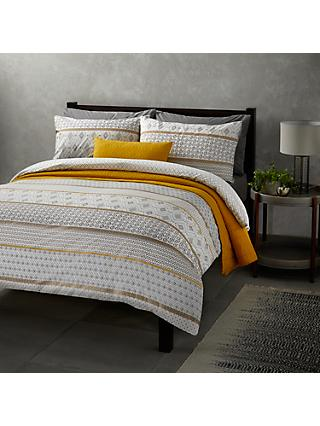 John Lewis & Partners Textured and Decorative Fusion Nisha Stripe Duvet Cover Set
