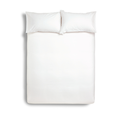 Product photo of John lewis waffle stripe duvet cover and pillowcase set