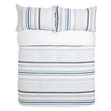 Buy John Lewis Weymouth Stripe Duvet Cover and Pillowcase Set Online at johnlewis.com