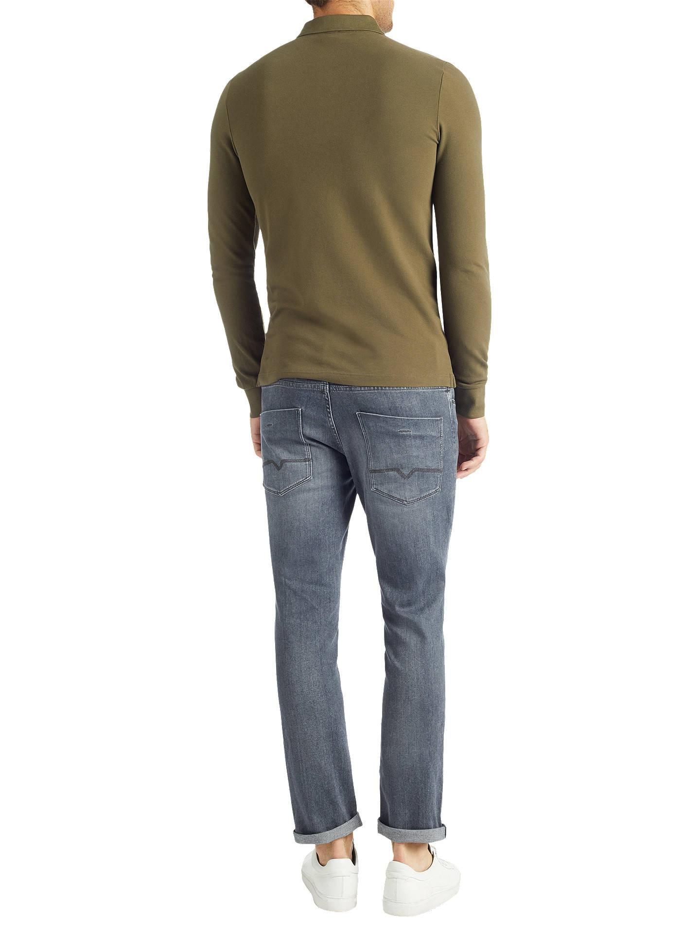 dbcba28ce ... Buy BOSS Orange Paulyn Long Sleeve Polo Top, Dark Green, S Online at  johnlewis ...