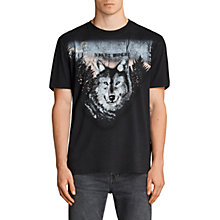Buy AllSaints Night Wolves Short Sleeve T-Shirt, Black Online at johnlewis.com