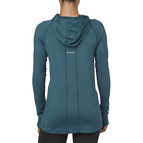 Buy Asics Thermopolis Long Sleeve Running Hoodie, Blue Steel Heather Online at johnlewis.com