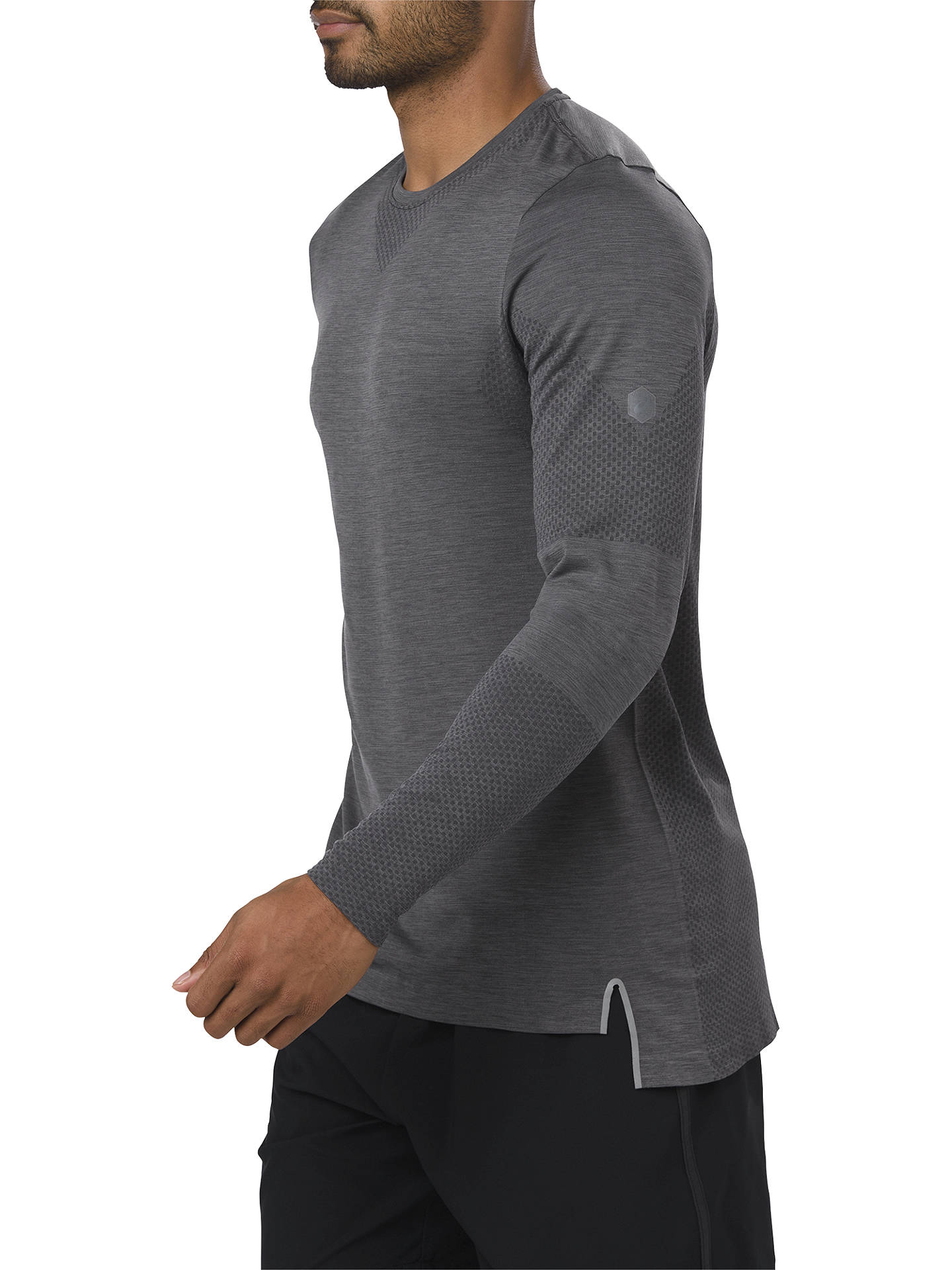 BuyASICS Seamless Long Sleeve Running Top, Dark Grey Heather, S Online at johnlewis.com