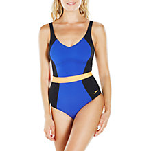 Buy Speedo Sculpture CrystalGleam One Piece Swimsuit, Black/Ultramarine/Orange Online at johnlewis.com