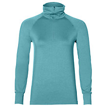 Buy Asics Thermopolis Long Sleeve Half Zip Running Top, Lake Blue Heather Online at johnlewis.com