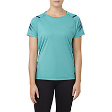 Buy Asics Icon Short Sleeve Running Top, Lake Blue Heather Online at johnlewis.com