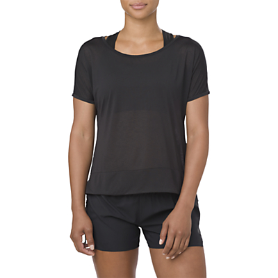 Asics Cropped Running Top, Performance Black