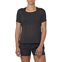 Buy Asics Cropped Running Top, Performance Black Online at johnlewis.com