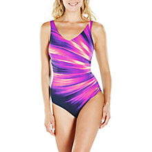 Buy Speedo Vivapool One Piece Swimsuit, Blue/Orange Online at johnlewis.com