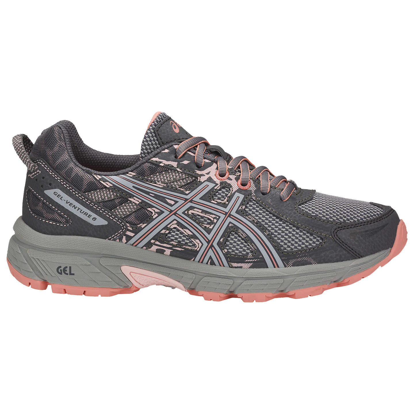 BuyAsics GEL-VENTURE 6 Women's Running Shoes, Grey/Pink, 4 Online at ...
