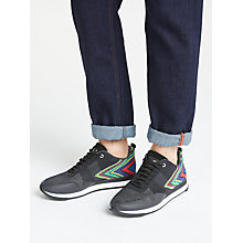Buy PS Paul Smith Rappid Lace Up Trainers, Dark Navy Online at johnlewis.com