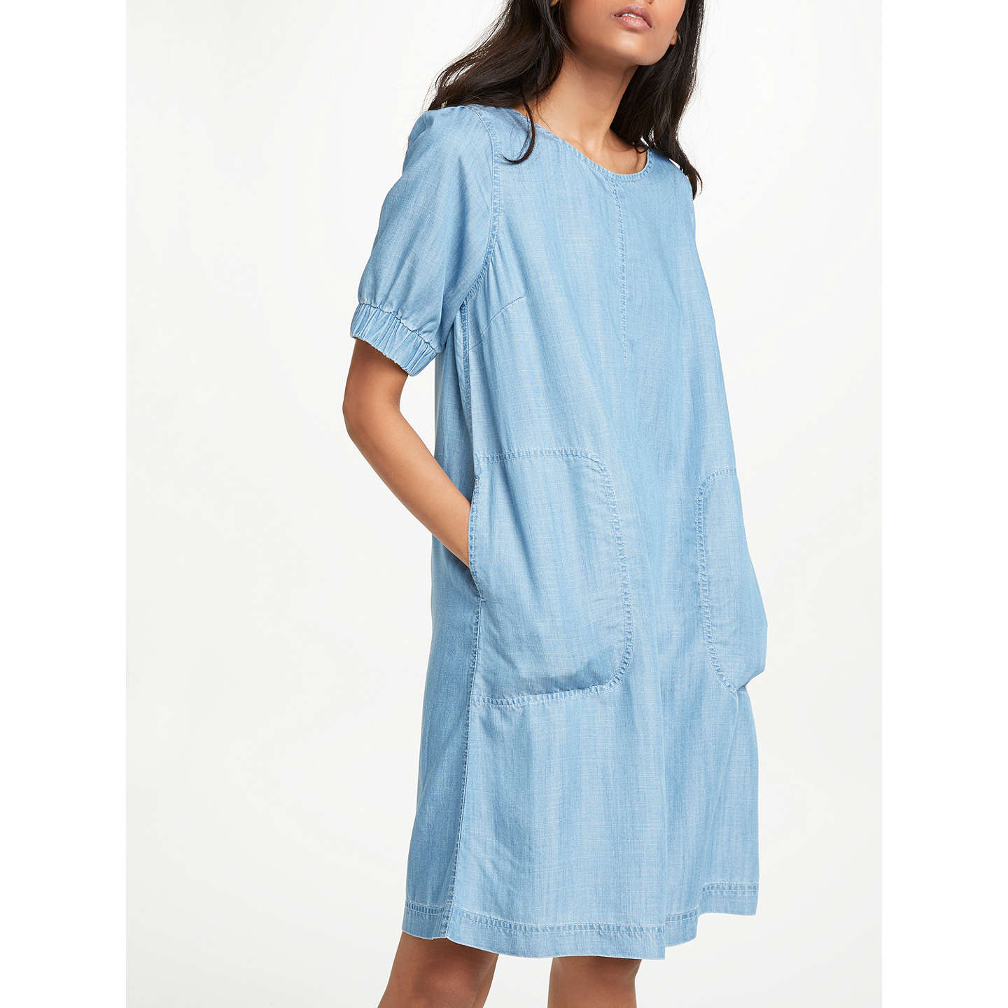 AND/OR Sleeve Detail Dress, Blue at John Lewis