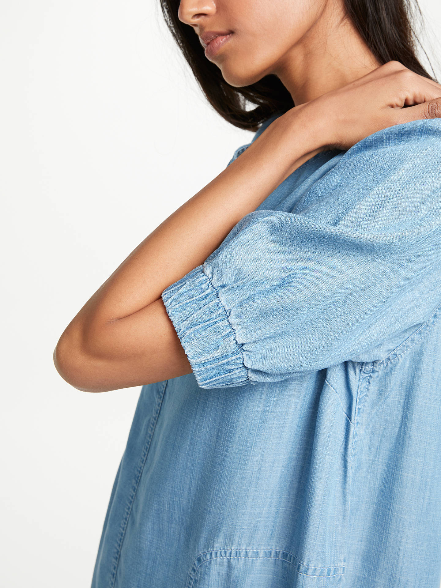 BuyAND/OR Sleeve Detail Dress, Blue, 8 Online at johnlewis.com