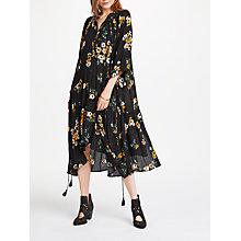 Buy AND/OR Demelza Print Dress, Black/Ochre Online at johnlewis.com