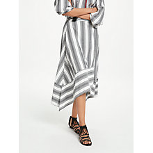 Buy AND/OR Stripe Wrap Skirt, Black/Ivory Online at johnlewis.com