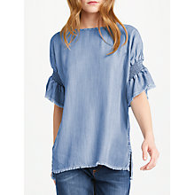 Buy AND/OR Short Sleeve Top, Blue Online at johnlewis.com