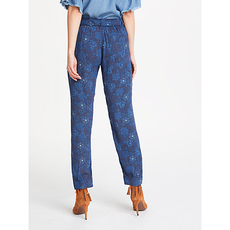 Buy AND/OR Floral Patsy Print Trousers, Indigo Online at johnlewis.com