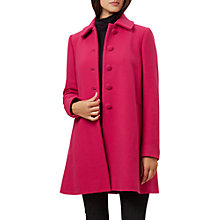 Buy Hobbs Nikki Coat, Hot Pink Online at johnlewis.com