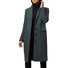 Buy Hobbs Diane Coat, Teal Grey Online at johnlewis.com