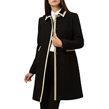 Buy Hobbs Gweneth Coat, Black/Pottery Online at johnlewis.com