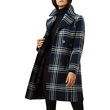 Buy Hobbs Marilyn Coat, Navy/Multi Online at johnlewis.com