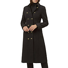 Buy Hobbs Rosa Coat, Black Online at johnlewis.com