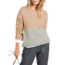 Buy hush Colourblock Jumper, Rose Dust Marl/Grey Marl/Light Beige Online at johnlewis.com