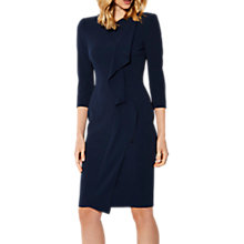 Buy Karen Millen Tailored Long Sleeve Pencil Dress, Navy Online at johnlewis.com