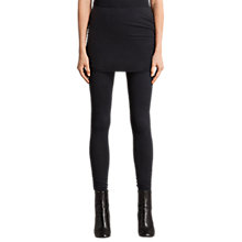 Buy AllSaints Raffi Ruched Leggings, Black Online at johnlewis.com