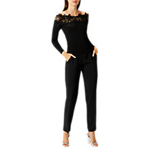 Buy Coast Lilith Knitted Bardot Top, Black Online at johnlewis.com