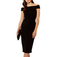 Buy Karen Millen Bardot Shoulder Pencil Dress, Black Online at johnlewis.com