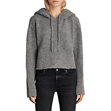 Buy AllSaints Ava Wool Blend Hoodie Online at johnlewis.com