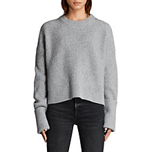 Buy AllSaints Pierce Jumper, Grey Marl Online at johnlewis.com