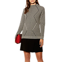 Buy Karen Millen Chevron Knit Collection Jumper, Black & White Online at johnlewis.com
