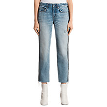 Buy AllSaints Boys Stripe Jeans, Light Indigo/Blue Online at johnlewis.com
