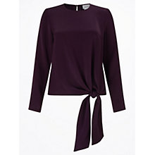 Buy Jigsaw Satin Tie Top Online at johnlewis.com